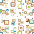 Retro seamless wallpaper - Stock Vector