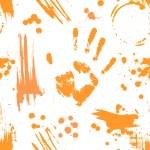 Imprint on paint. — Stock Vector