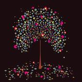 Tree summer. Vector. — Stock Vector