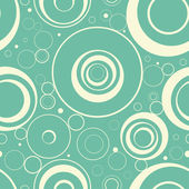 Seamless stylish wallpaper from circles. — Stock Vector