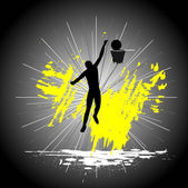 Man playing basketball. — Stock Vector