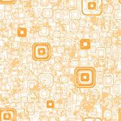 Papel de parede sem costura laranja. — Vetor de Stock