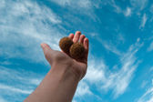 Hand in the sky 3 — Stock Photo