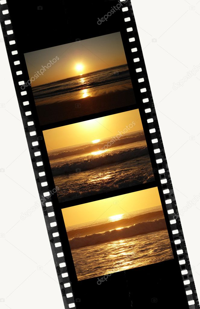 Film of 35mm with image of Sunset sequence               — Stock Photo #1302097