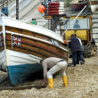 Stock Photo: Fishing boat, end of day