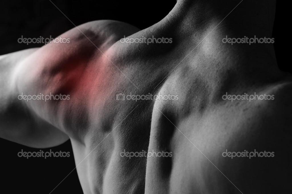 Shoulder joint pain — Foto de Stock   #1314460