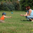 Grandmother and grandson are playing — Stock Photo #2253355