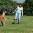 Grandmother and grandson are playing — Stock Photo #2253379