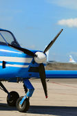 Small propeller airplane at the airfield — Stock Photo