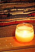 Gwiazdkowa świeca — Zdjęcie stockowe