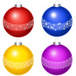 Balls on the white background — Foto Stock
