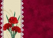 Cartão para férias com flores — Foto Stock