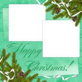 Frame met takken op de groene backgr — Stockfoto
