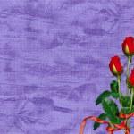 tarjeta violeta para las vacaciones — Foto de Stock