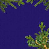 Donker blauwe kaart voor de vakantie — Stockfoto