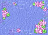 Pembe çiçekli bordo kartı — Stok fotoğraf