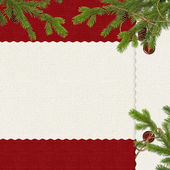 Card for the holiday with branches — Foto Stock