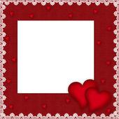 Tarjeta del día de San Valentín con corazones — Foto de Stock
