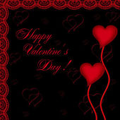 Valentines day card with hearts — Stock Photo