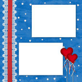 Alla hjärtans dag-kort med hjärtan — Stockfoto
