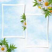 Kort för en semester med blommor — Stockfoto