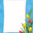 Card for the holiday with flower - Stockfoto