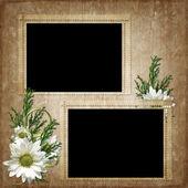 Scheda per la vacanza con fiori — Foto Stock