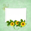 Card for the holiday with flowers — 图库照片 #1945787