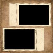 Grußkarte aus altpapier — Stockfoto