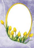 Tarjeta para el día de fiesta con la flor — Foto de Stock
