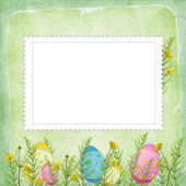 Easter card for the holiday — Stock Photo