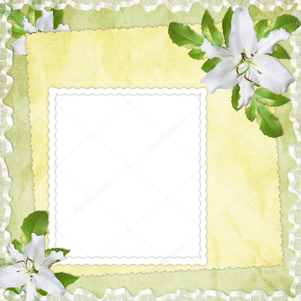 Card for the holiday  with flowers on the abstract background — Stock Photo #2288987