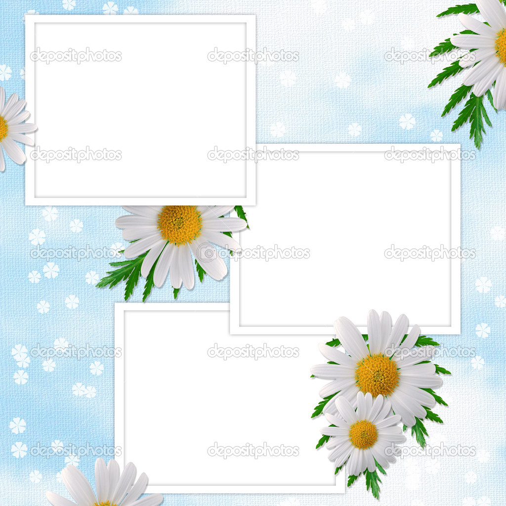 Card for the holiday  with flowers on the abstract background — Stock Photo #2289049