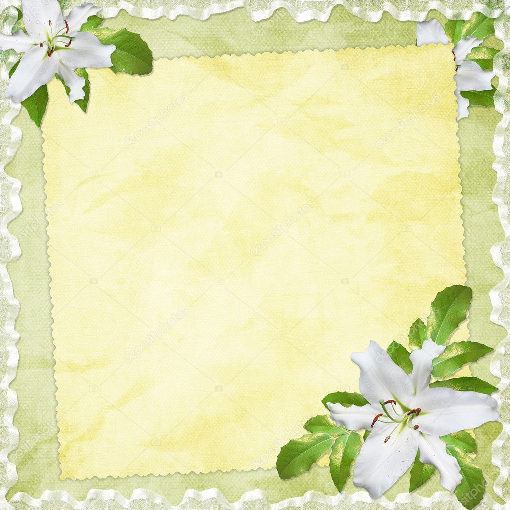 Card for the holiday  with flowers on the abstract background — Foto de Stock   #2289303