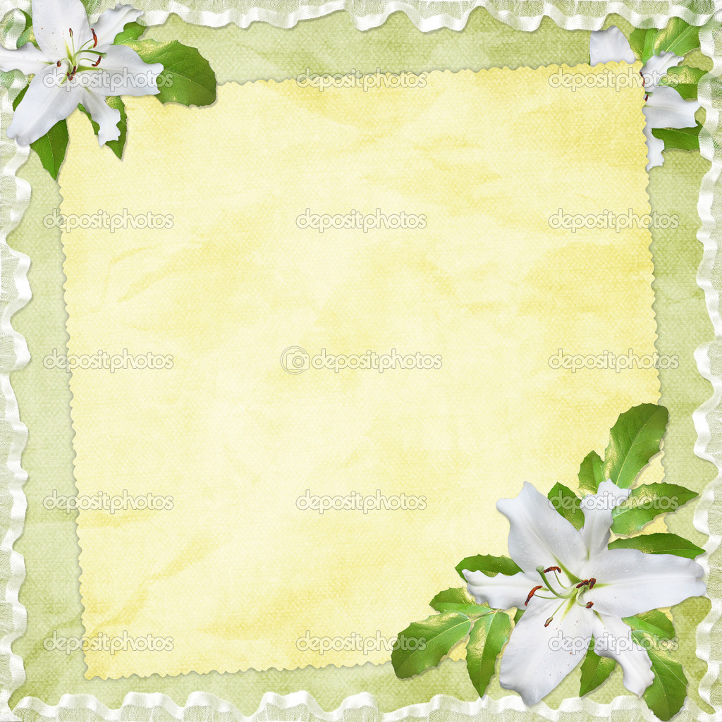Card for the holiday  with flowers on the abstract background  Stock Photo #2289303