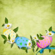 Easter card for the holiday  with egg — 图库照片