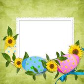 пасхальная открытка для отдыха с яйцом — Стоковое фото