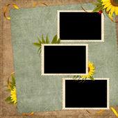 Wzór karty na wakacje z kwiatem — Zdjęcie stockowe