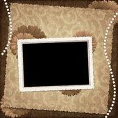 Grußkarte für den urlaub mit blume — Stockfoto