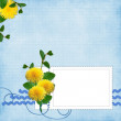Card for the holiday  with flowers - Stock fotografie