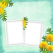 Card for holiday with flower — Stockfoto
