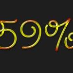 Autumn percentage symbol — Stock Photo #1363204