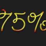 Autumn percentage symbol — Stock Photo #1363310