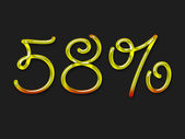 Autumn percentage symbol — Stock Photo