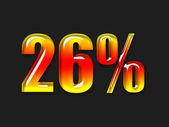 Simbolo di percentuale caldo — Foto Stock