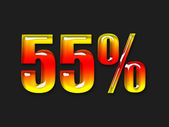 Hot percentage symbol — Stock Photo