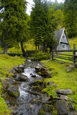 The wood house — Stock Photo