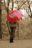 The girl and an umbrella — Stock Photo