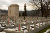 Winter cemetery — Stock Photo