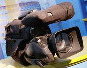 Professional digital video camera — Stock Photo